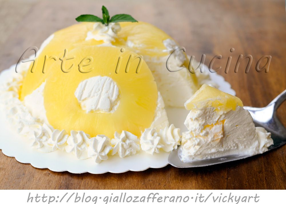 Zuccotto Allananas E Panna Dolce Veloce Facile Ricetta Torta