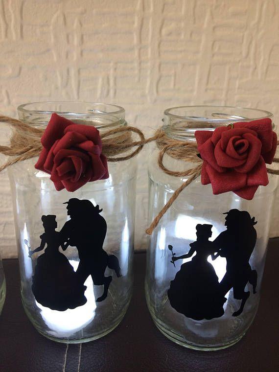 Beauty And The Beast Lantern Jar Wedding Centerpiece Wedding Table