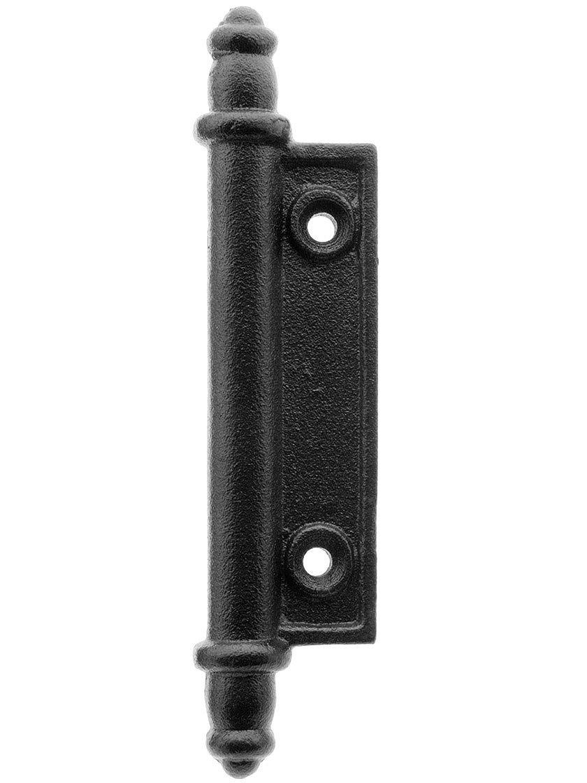 Galvanized Iron Faux Shutter Hinge With Black Powder Coated Finish Shutter Hinges Shutters Exterior Shutter Hardware