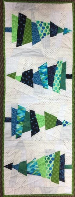 Crazy Christmas Tree Kit Christmas Tree Quilt Pattern Tree Quilt Block Christmas Tree Quilt