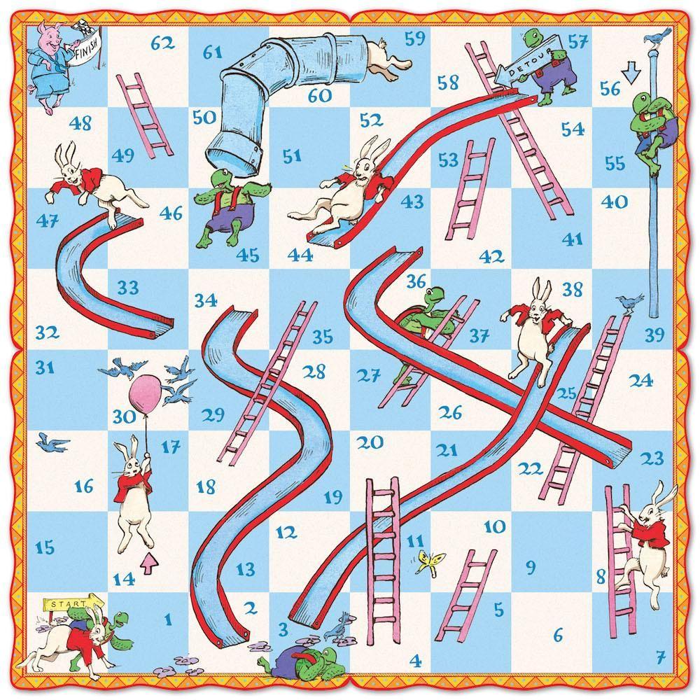 Slips & Ladders Kids Board Game eeBoo Printable