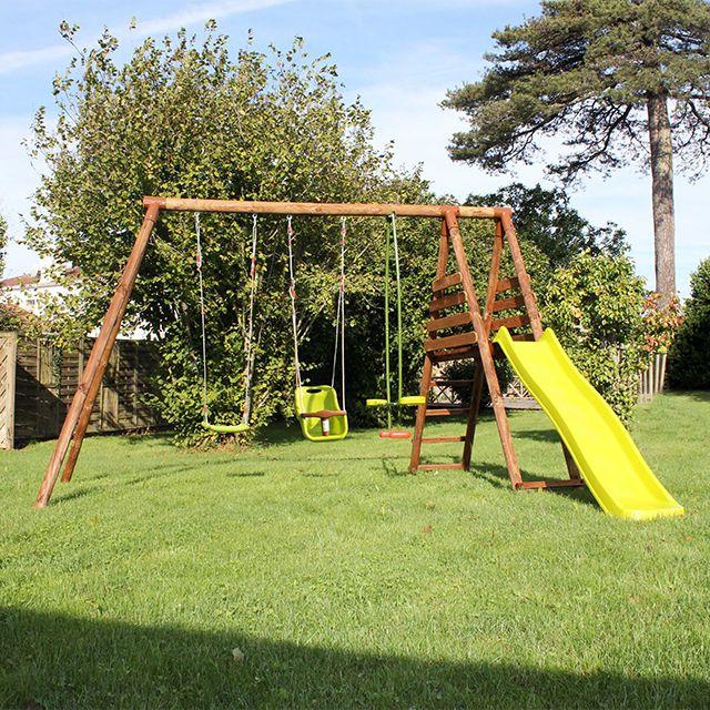 0f4abee98048c1 Aire de jeux bois BLOOMA Lugano 2   Jardin   Aménagement extérieur ...