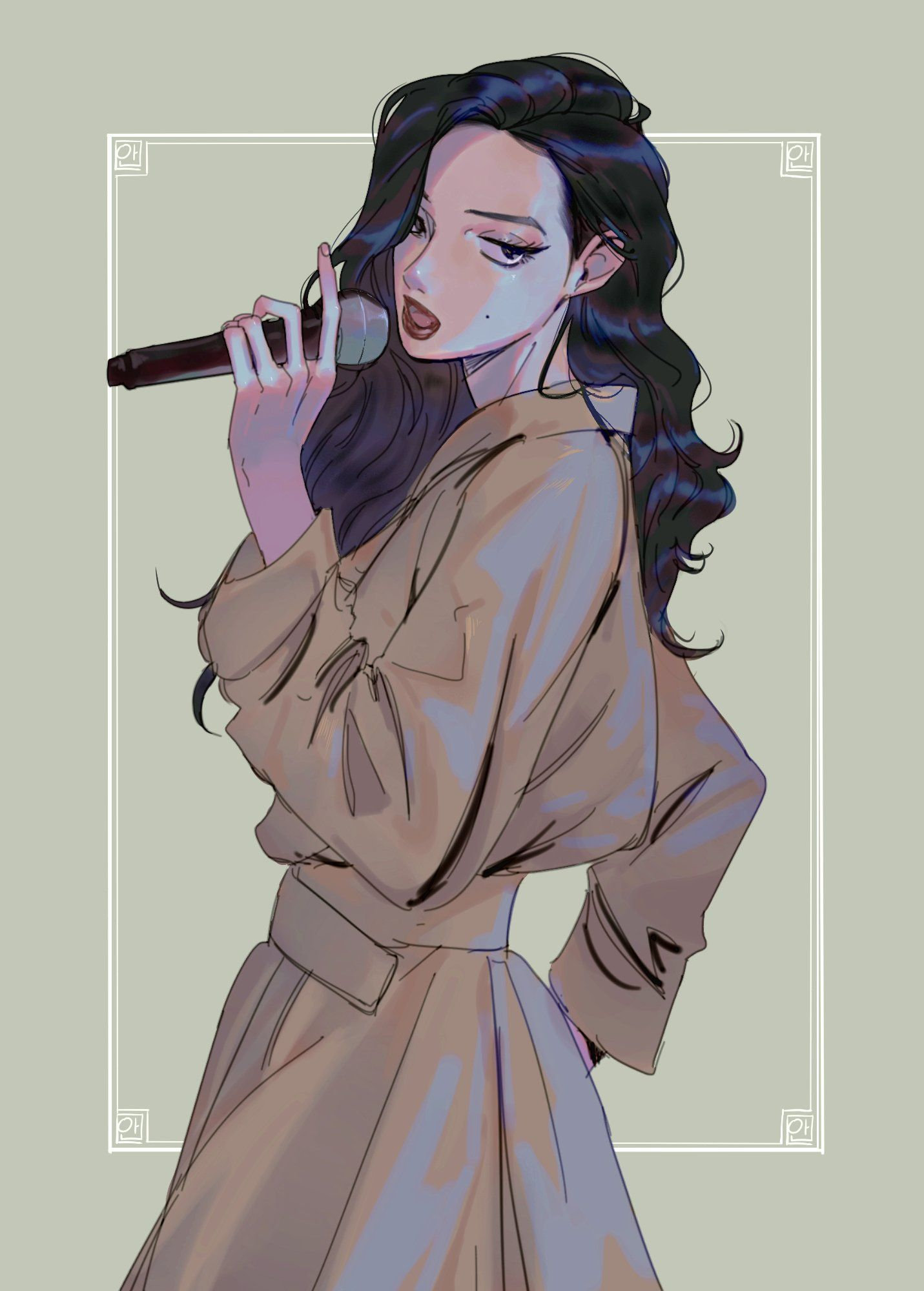 Mamamoo Hwasa Pop Illustration Cartoon Art Styles Character Art