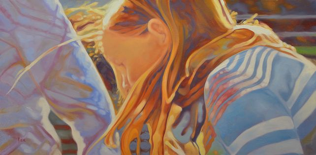 """Shine, original art is available, 18"""" X 36""""oil on canvas"""