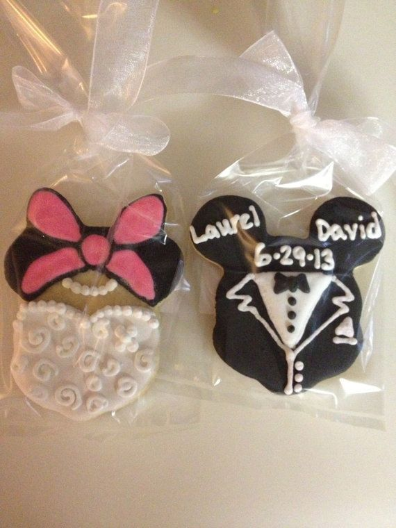 Mickey And Minnie Mouse Wedding Cookie Favors