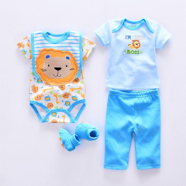 X82845A Al Por Mayor 100% ropa de bebé de algodón 5 unids conjunto mameluco  del bebé del mameluco del niño recién nacido-imagen-Sets de ropa para ... 061fc08e2787
