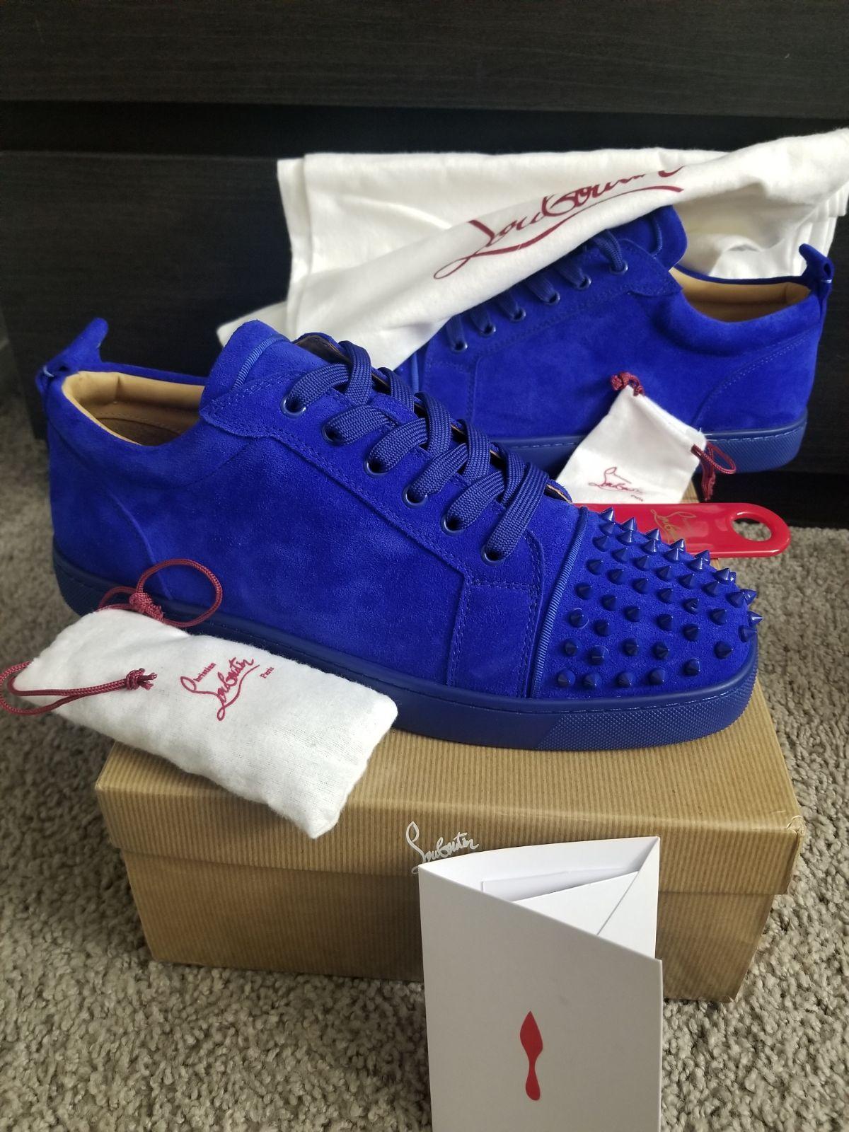 Christian Louboutin Spikes Sneaker BLUE