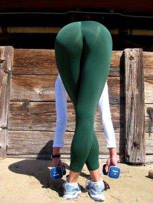 Pants light yoga girls skin with