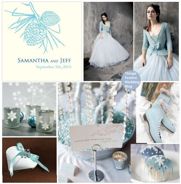 Ice Blue Winter Wedding Inspiration Wedding Tones Pinterest