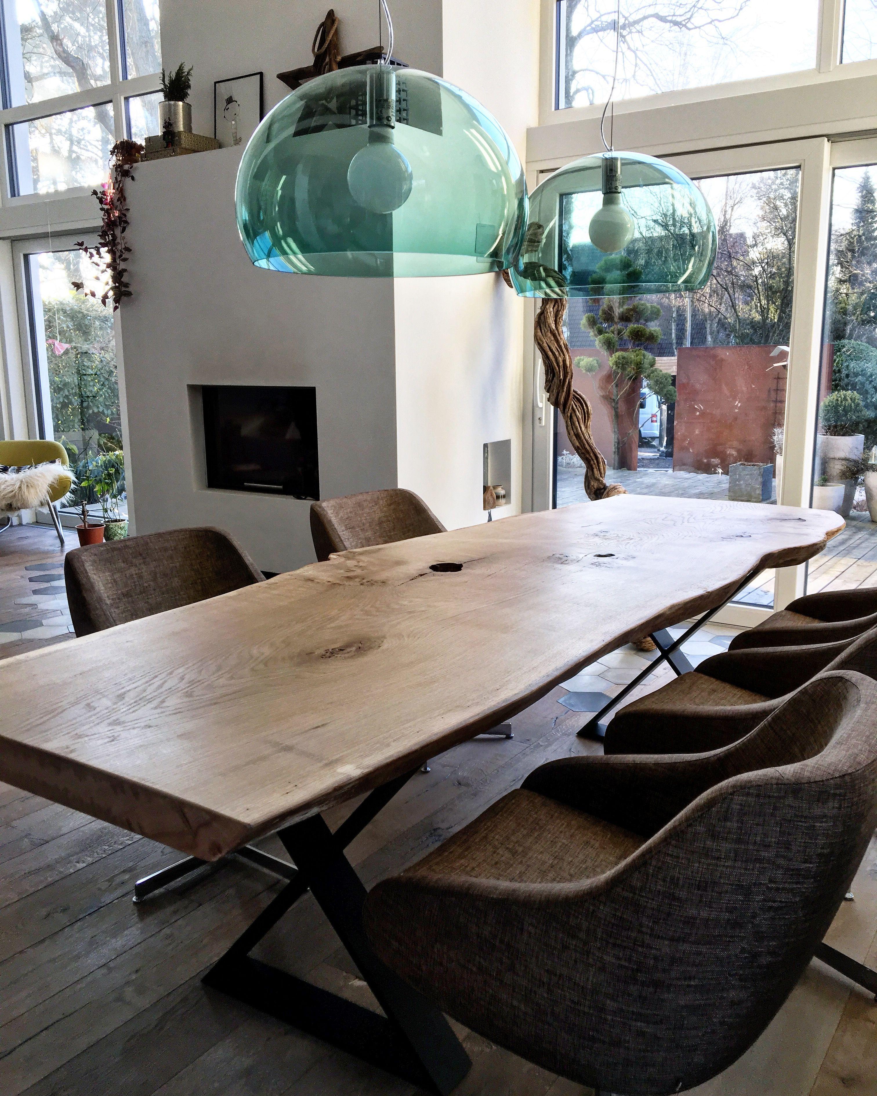 esstisch massivholztisch dinningtable baumtisch unverleimt tisch