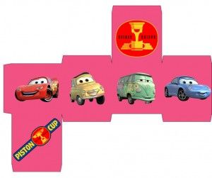 Free printable Cars treat boxes, name tags and labels