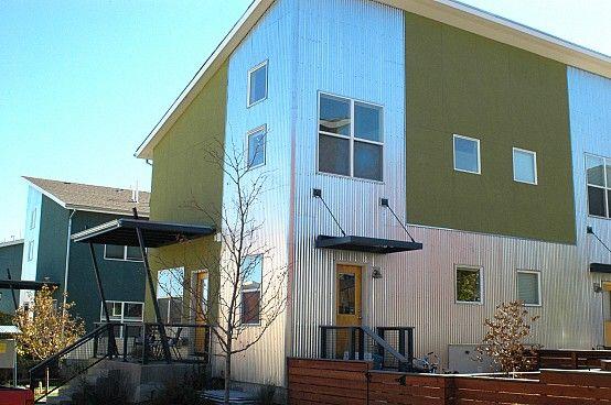 Corrugated Aluminum Siding Stucco Homes Aluminum Siding Metal House Plans