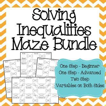 Solving & Graphing Inequalities Bundle | Maths algebra, Algebra and Math