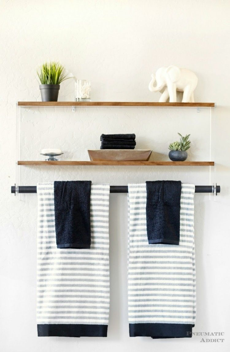DIY Wood And Acrylic Bathroom Shelf | Home: Bathroom | Pinterest ...