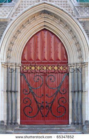 vintage-red-church-door