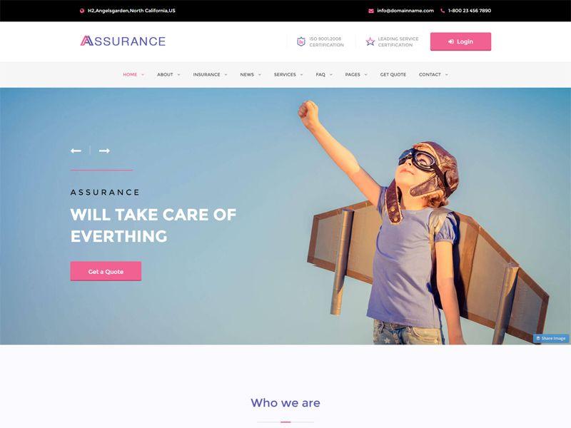 assurance-insurance html template  Assurance is a modern Insurance free HTML template designed for ...