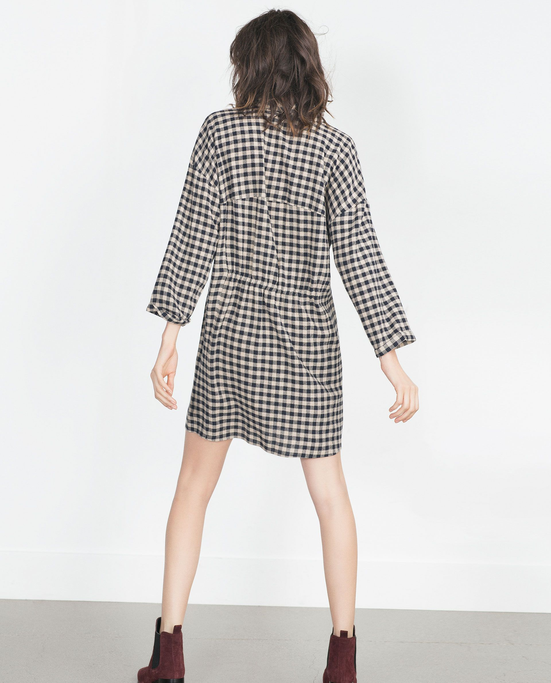 tunique a carreaux vichy robes femme soldes zara With robe carreaux vichy