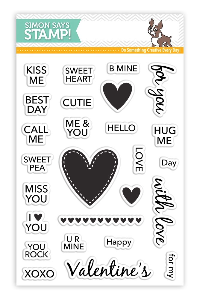 Simon Says Clear Stamps CANDY HEARTS SSS101717 zoom image