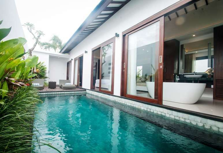 Asuri Bali Villas Kuta Kuta Villa 1 Bedroom Private Pool Terrace Patio Small Backyard Pools Facade House Villa