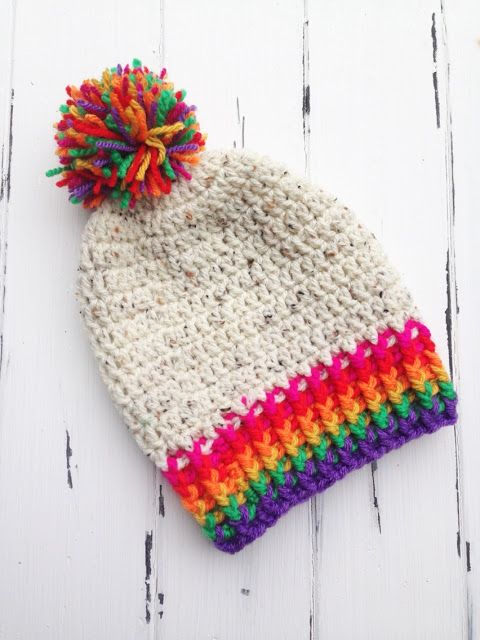 Rainbow Toddler Beanie | Pinterest | Main colors, Scrap and Yarns
