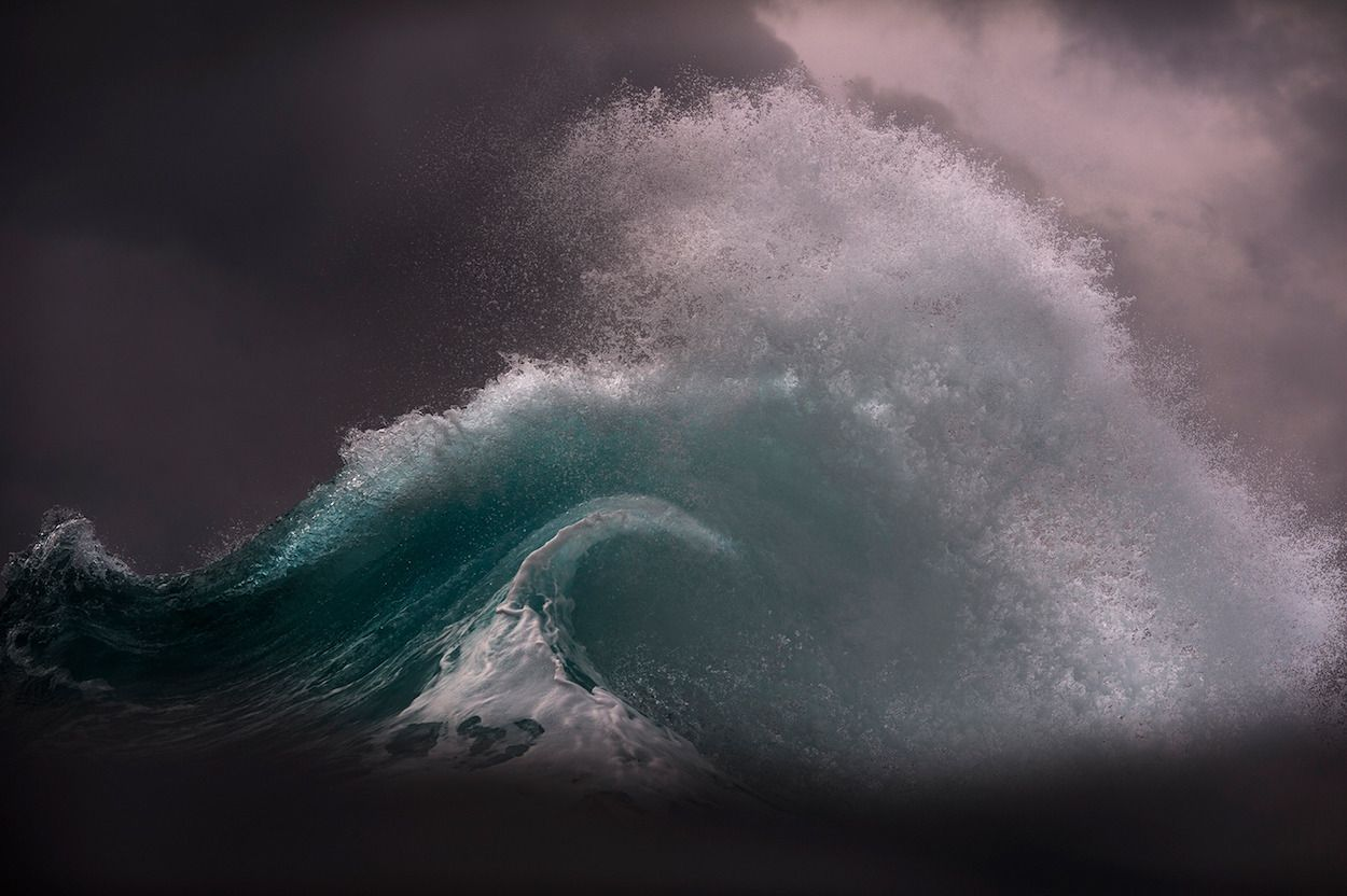 Triumph - Photographer captures the moody ocean at daybreak - by Ray Collin