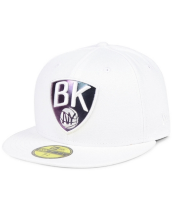 817294d73d8 New Era Brooklyn Nets Iridescent Combo 59FIFTY Fitted Cap - White 7 ...