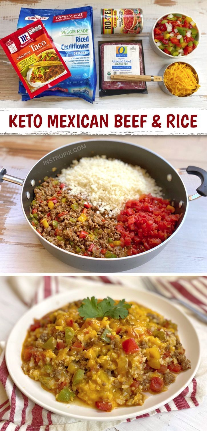 Cheesy Mexican Ground Beef Cauliflower Rice Recipe In 2020 Recipes Dinner Recipes Mexican Beef Casserole