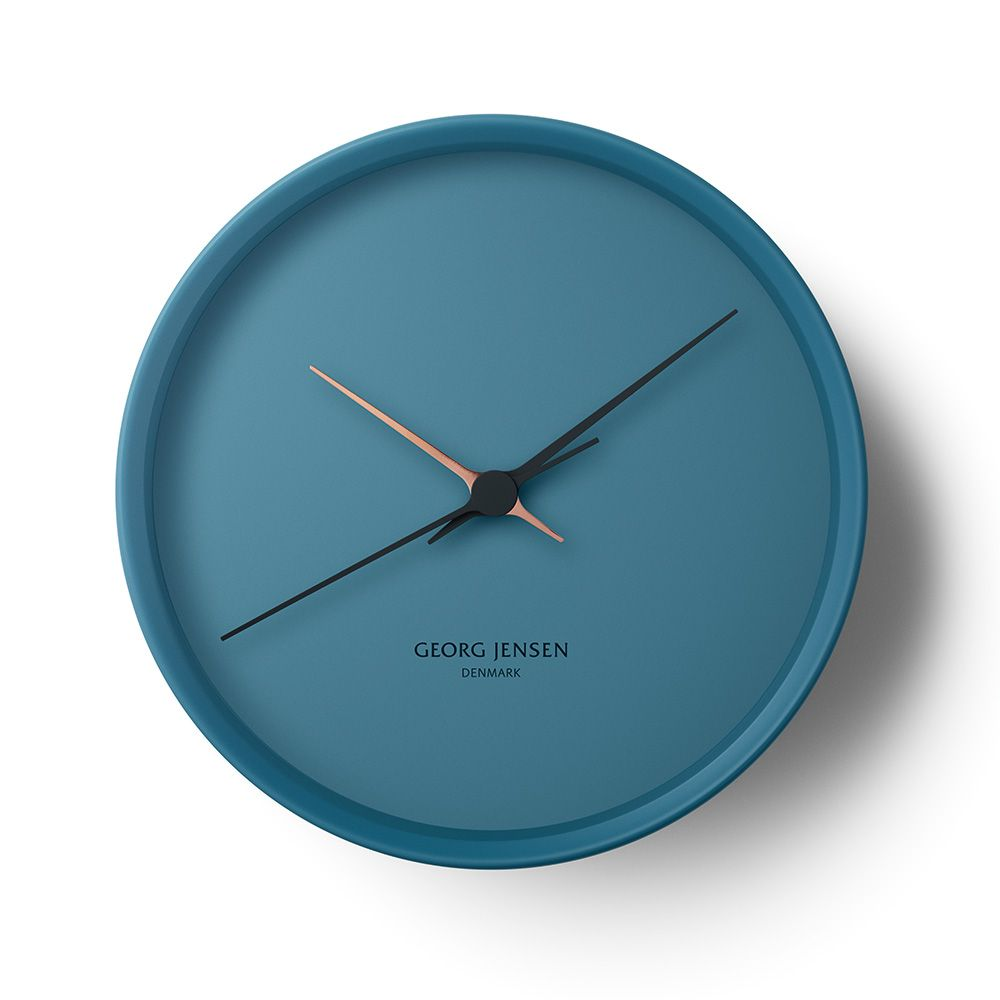 Love navy and copper this clock is stunning pinteres hk wall clock blue by georg jensen positivo formas seductoras negativo amipublicfo Gallery