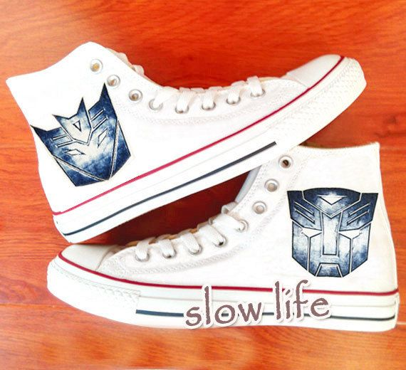 Transformers painted shoes | Maddi's | Converse, Painted