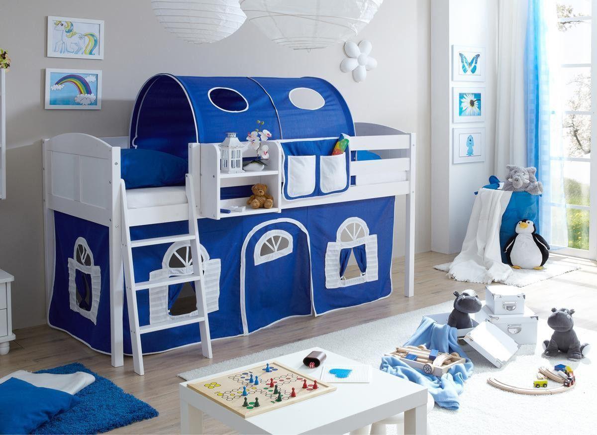 Ticaa Hochbett Eric Country Kiefer weiß blau-weiß Jetzt bestellen unter: https://moebel.ladendirekt.de/kinderzimmer/betten/hochbetten/?uid=5b218672-afaa-59fd-8fef-fd4be1d785bd&utm_source=pinterest&utm_medium=pin&utm_campaign=boards #möbel #kinderzimmer #einrichtung #hochbetten #baby #betten