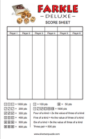 Farkle Score Sheets Addition And Multiplication Practice