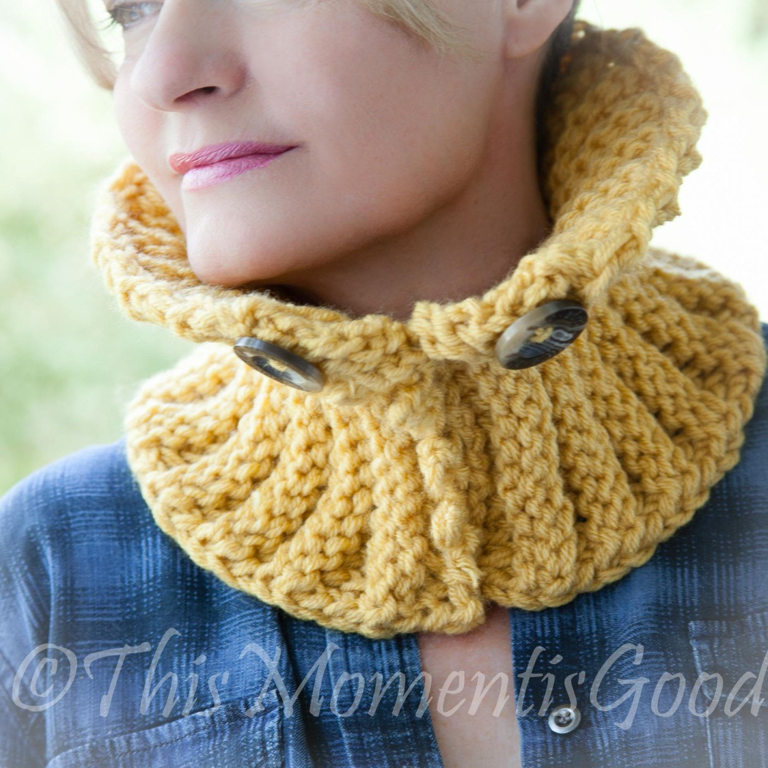Loom Knit Picot Ribbed Cowl Pattern Sized For Toddler To Adult