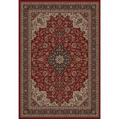 Concord Global Trading Persian Classic Red 7 Ft X 10 Ft Medallion Area Rug 20806 The Home Depot Area Rugs Red Floral Area Rug Oriental Area Rugs