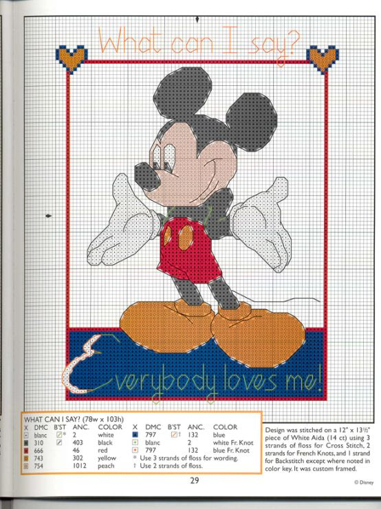 Mickey Collection~pg 29 (Everybody Loves Me) | Manualidades 2 ...