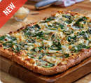 Domino's Spinach & Feta Artisan Pizza. Seriously, this is amazing.