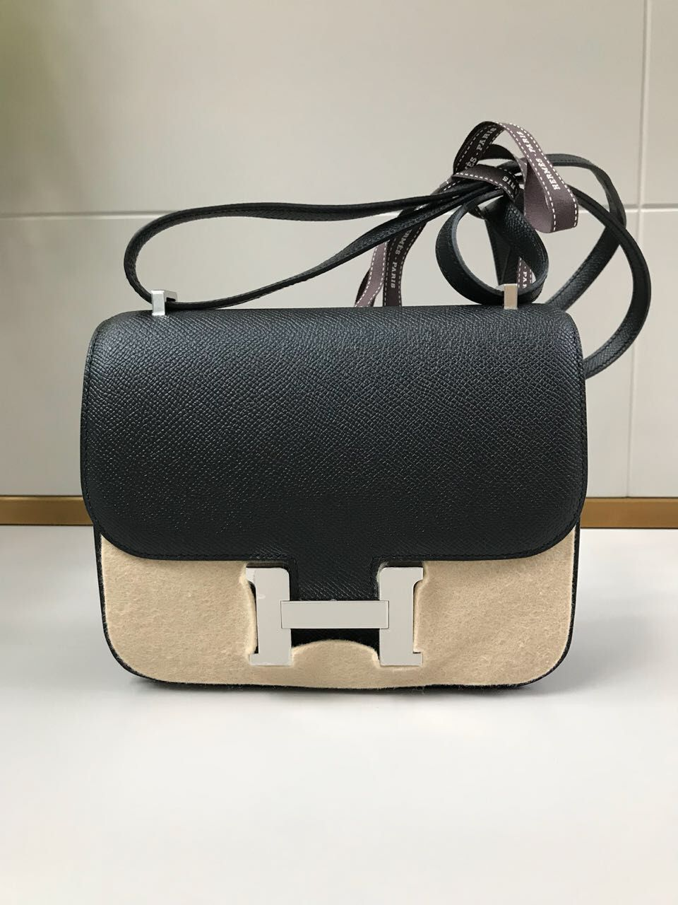 f30ae1566d4e Hermès Constance 18 Noir (Black) Epsom Palladium Hardware PHW C Stamp 2018   constance18