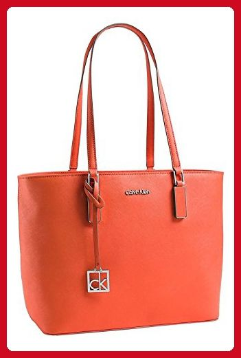 1cbf4946365 Calvin Klein White Label Scarlett Saffiano Leather Shopper Tote (Orange  Fire) - Top handle bags (*Amazon Partner-Link)