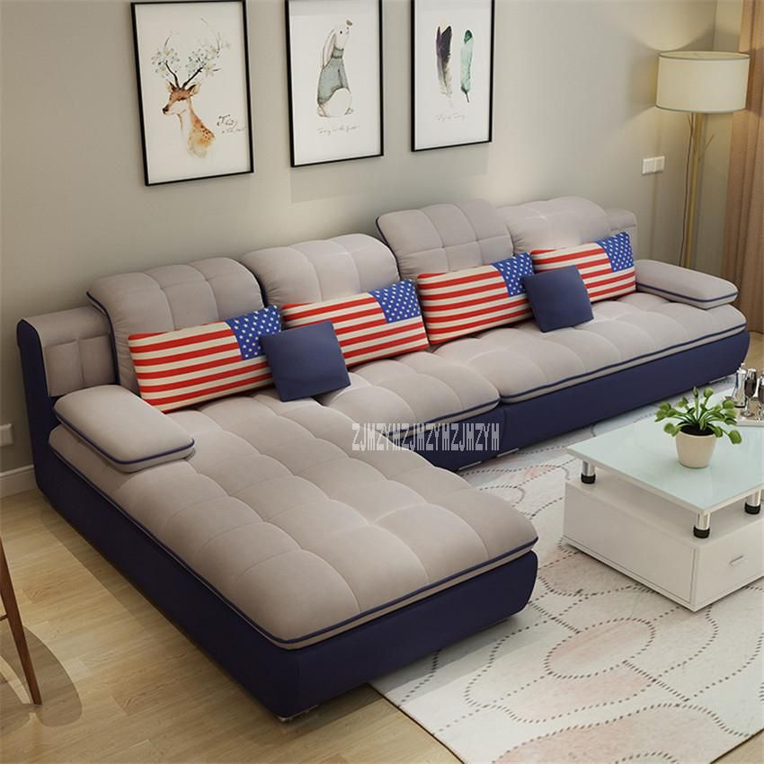 B042 Modern Simple Living Room Sofa Combination Home Furniture Sofa Set L Shape Sectional Couch Recliner Couch Frame Sofa Set Sofa Loveseat Sofa