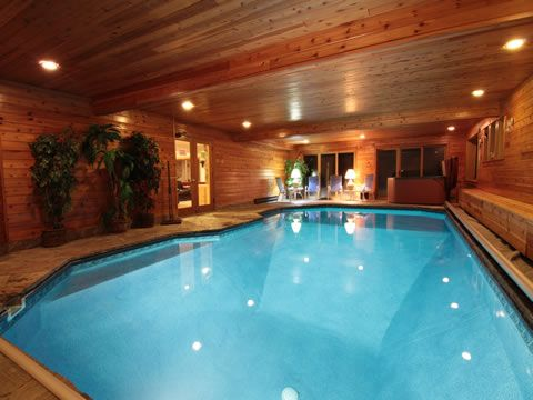 Home indoor pool and hot tub  Not just an indoor pool but an indoor hot tub as well! Needs a ...