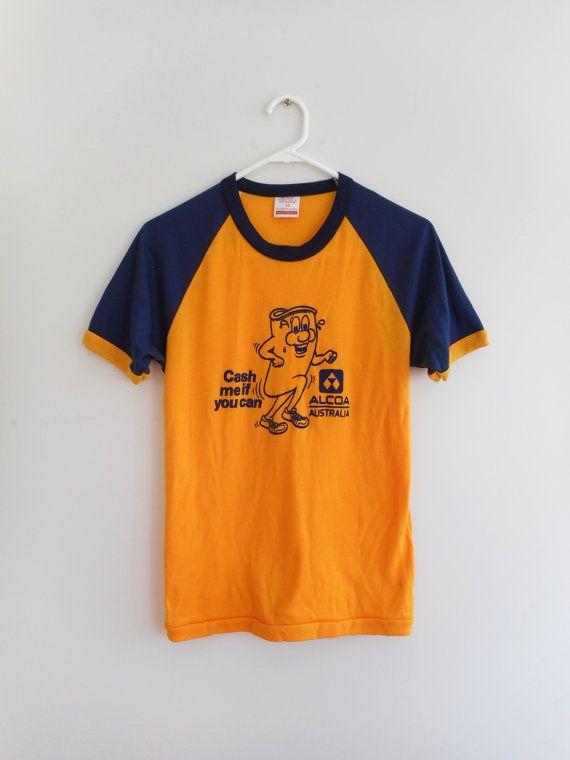 Vintage 70s Gold RINGERTEE // DEADSTOCK T-Shirt