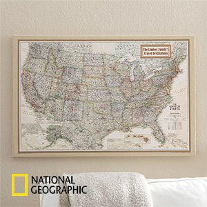 Personalized 24x36 national geographic us canvas map national geographic executive us personalized canvas map gumiabroncs Image collections