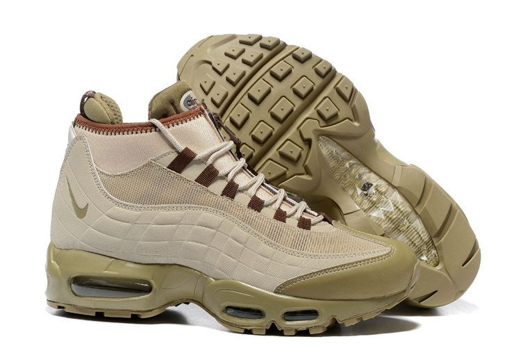 new product 98547 c45de Nike Air Max 95 SneakerBoot Beige 806809 200 Size 7