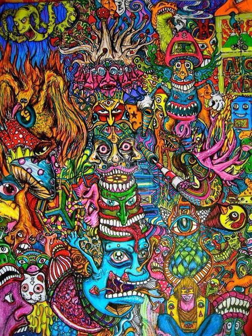Lost for word 39 s advanced cubensis mycaphile psychedelische kunst spiritualit t kunst und - Trippy acid pics ...