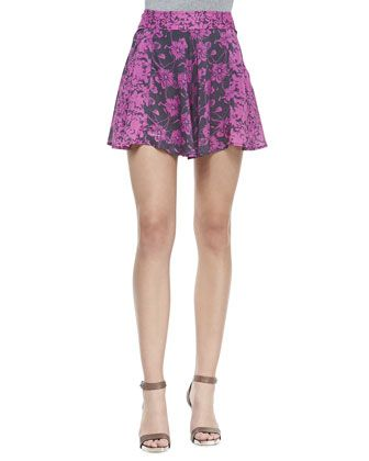 Floral Printed High-Rise Culotte Shorts at CUSP.