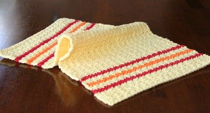 Home Cotton Kitchen Towel Free Crochet Pattern Right Crochet