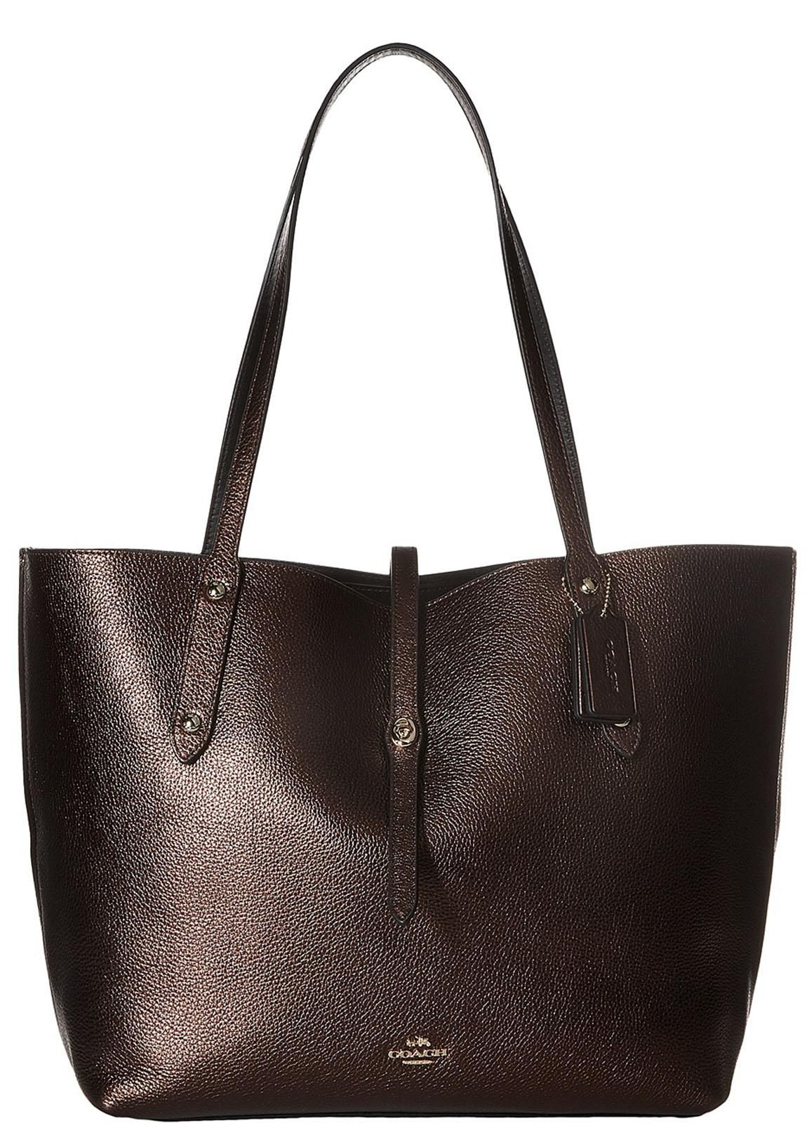 Get one of the hottest styles of the season! The Coach 37756 Pebbled  Leather Large Market Tote Shoulder Bag is a top 10 ... 34997c924e1ae