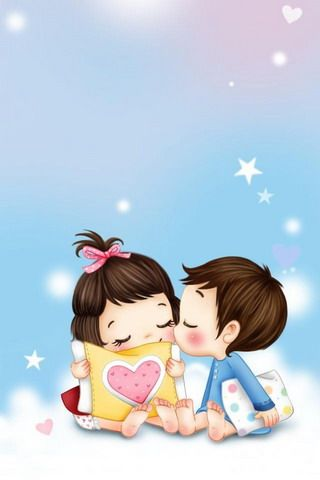 Animated Cute Love Couple Wallpapers For Mobile Phones Love Couple Wallpaper Cute Love Couple Cute Love