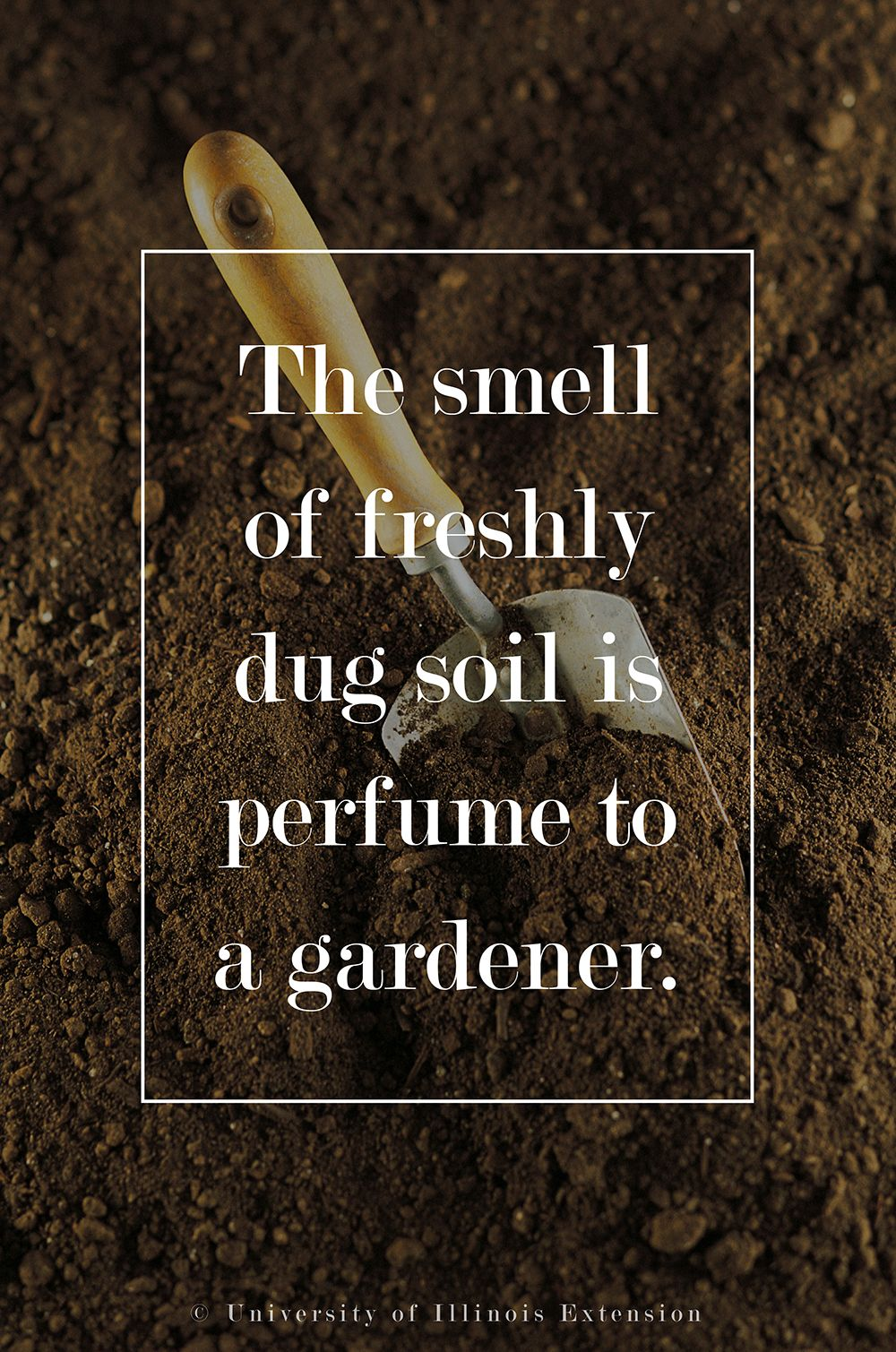 The smell of freshly dug soil is perfume to a gardener. #quote ...