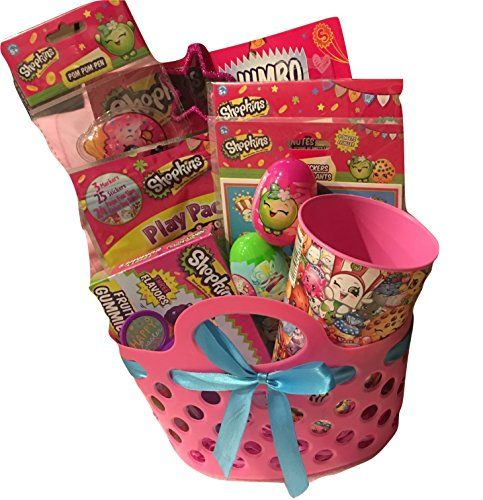Shopkins themed kids easter gift basket bundle set with candy explore easter gift baskets shopkins and more negle Image collections