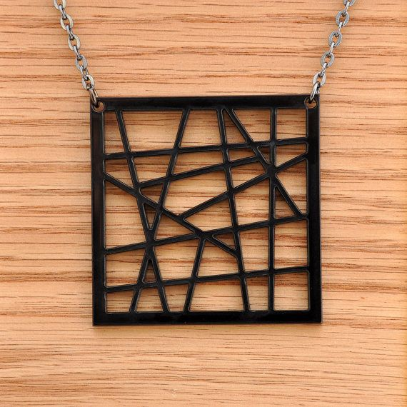 Trendsetting Acrylic Laser Cut Chic Pendant by moderngirljewelry, $10.00